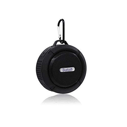 ANMAIKER Portable Bluetooth Speaker,Waterproof Wireless Speaker with 5W Louder HD Sound,Shower Speaker with Suction Cup,Built in Mic Support TF Card for Bathroom Pool Beach Outdoor(Black)
