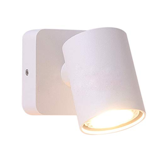 Sluce Bedside Reading Mounted LED Wall Lamp Fixture Indoor Ceiling Spotlight Adjustable Wall Sconce Rotatable White GU10 ()