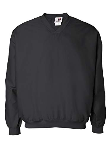 Jacket Golf Wind (Badger Sportswear Men's V-Neck Windshirt, black, X-Large)
