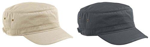 Econscious Men's Organic Cotton Twill Corps Hats Set_OYSTER & (Organic Cotton Visor)