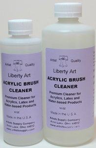 Liberty Art Acrylic Brush Cleaner (16 Ounce Bottle) by Liberty