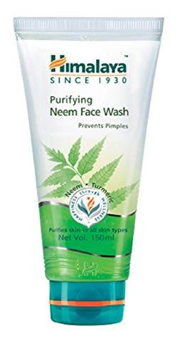 (Himalaya Purifying Neem Face Wash with Neem and Turmeric for Occasional Acne, 5.07 oz (150)