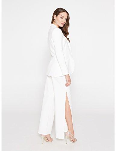 Tinta italian Motivi In Fodera Blazer Size Bianco Lungo fw1qP7I