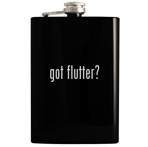 got flutter? - 8oz Hip Drinking Alcohol Flask, Black