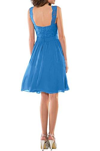 Traegerkleider Fuchsia Chiffon Knielang Partykleider Kurz Abendkleider Blau Spitze Charmant Damenkleider Cocktailkleider Damen P7wxBHqXt
