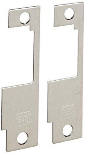 HES Stainless Steel 851M Faceplate for 8500 Series Electric Strikes for Sargent Mortise Locksets, Satin Stainless Steel Finish