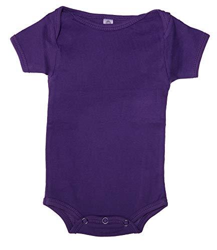 Mato & Hash Unisex Baby Cotton Infant Baby Toddler One Piece Lap Shoulder Jumpsuit - Purple Mountain CA165 6-12
