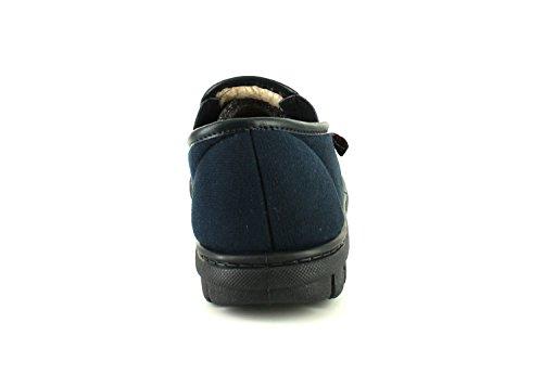 NEU Herren / Herren Croft Originals marineblau Twin Gusset Hausschuhe - marineblau - UK Größen 6-12