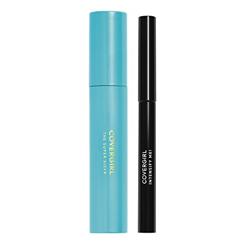 COVERGIRL Super Sizer Mascara Very Black 800 and Intensify Me! Eye Liner Intense Black 300 Special Pack, .448 oz