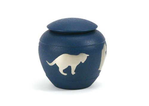 UPC 840571000357, Near & Dear Pet Memorials Silhouette Cat Urn, Country Blue