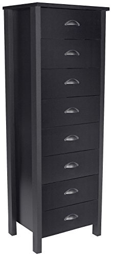 Venture Horizon 8 Drawer Lingerie Bureau Black ()