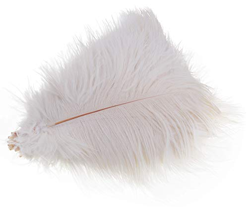 Wowlife Set of 50, 15-20cm Real Natural White Home Decor Ostrich Feathers Party Wedding Decorations Feather -