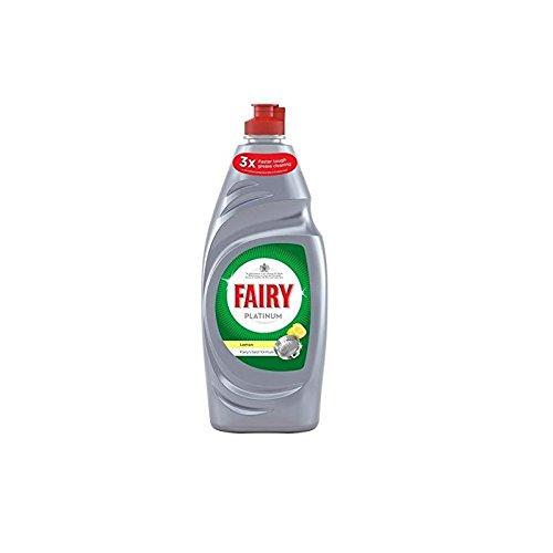 Fairy Platinum Washing Up Liquid Lemon (625ml) - Pack of 2 (Fairy Dishwashing)