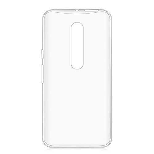 Moto X Pure Edition / Moto X Style - Clear [Invisible Transparent] Anti-Scratch Ultra Minimal Slim Fit TPU Gel Case and Atom LED (Custom Phone Case Moto X compare prices)
