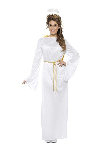 Angel Gabriel Costumes (Smiffy's Men's Angel Gabriel Costume, Unisex, White, One Size)