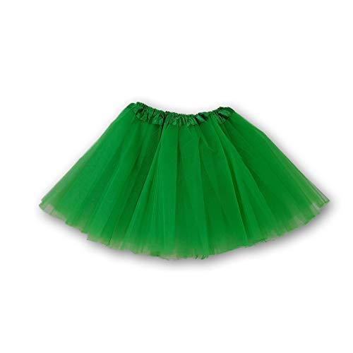 The Hair Bow Company Adult Basic Tulle Tutu Available in 3 Sizes Kelly Green M-L ()
