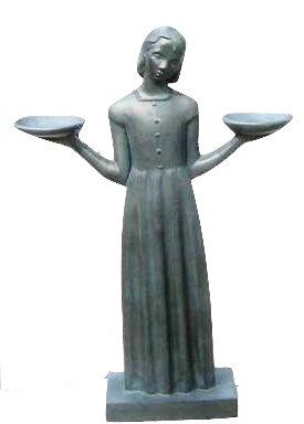 Bird Girl Miniature Statue