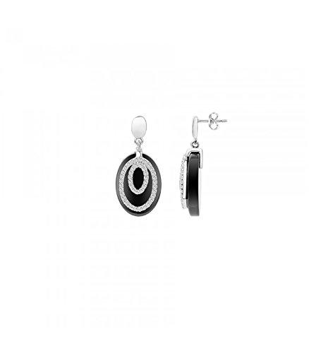 Boucles d'oreilles céramique et argent Ceranity 1-42/0038-N