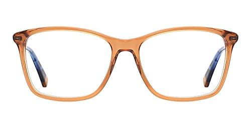 TIJN Semi-Transparent Wayfarer Acetate Eyeglasses Frame Zebra Arm (E, 53)