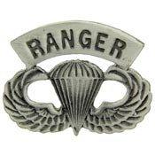 "Metal Lapel Pin - U.S. Army Pin- U.S. Army Ranger Paratrooper Wings 1-1/2"""