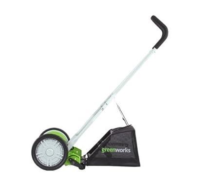 Renewed Greenworks 16-Inch Reel Lawn Mower with Grass Catcher 25052