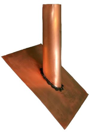 Copper Plumbing Vent Cover - 4'' by Old World Distributors