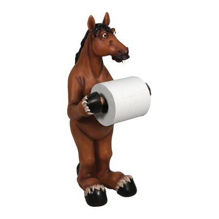 Free Toilet Paper Holder, Decorative Standing Horse Bathroom Holder Toilet Paper