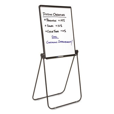 Quartet : Ultima Presentation Dry Erase Easel, Melamine, 27 x 34, White, Black Frame -:- Sold as 2 Packs of - 1 - / - Total of 2 Each