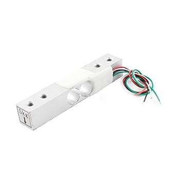 DealMux 4 cables rectángulo aleación de aluminio de la celda de carga para medir peso Sensor, 11 lb.: Amazon.es: Industria, empresas y ciencia
