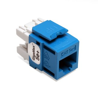- Leviton 5G110-RL5 Blue Category 5e+ Snap in Connector