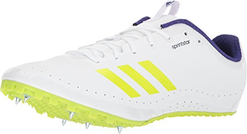 adidas Running Unisex Sprintstar Footwear White/Crystal White/Real Purple 8.5 Women / 7.5 Men M US