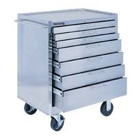 Kennedy Manufacturing 28087 29'' 7-Drawer Stainless Industrial Roller Cabinet, Silver by Kennedy Manufacturing