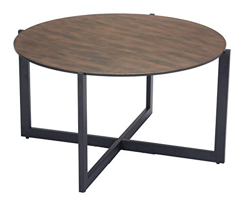 Zuo 101073 Coffee Table One Size Rust, Matt Black