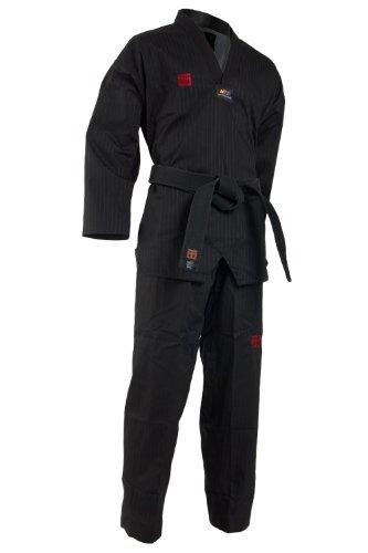 Mooto Korea TaeKwonDo TKD Basic4 Color Dan DoBOk TKD Uniforms 0000 to 6 (Black, 180(US4)(5.57-5.90ft or 170-180cm))