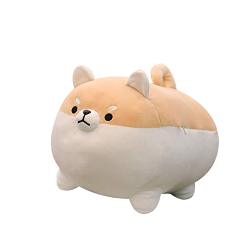 Transer- Very Soft Fat Shiba Inu Big Hugging Pillow Cute Kawaii Plush Puppy Stuffed Animals Dog Toys (Brown, 20