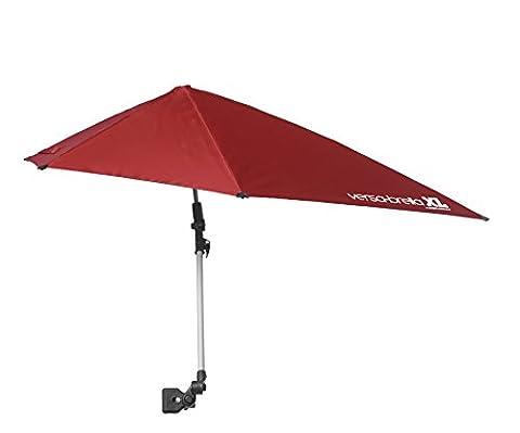 Sport-Brella Versa-Brella XL (Firebrick Red) - All Position Umbrella with Universal Clamp, Firebrick - Team Golf Golf Umbrella
