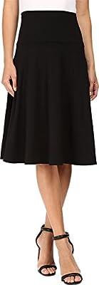 Susana Monaco Womens High Wasit Flare Skirt
