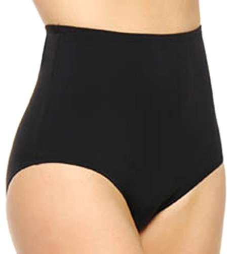 Olga Women's Without A Stitch Brief Panty, Black, Large