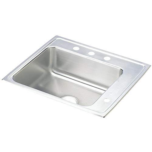 Elkay DRKAD252260R4 Lustertone Classic Single Bowl Drop-in Stainless Steel Classroom ADA Sink