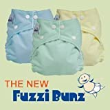 12 Pack FuzziBunz® Perfect Size MEDIUM Cloth Diapers GENDER NEUTRAL colors