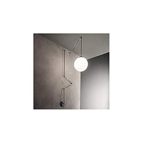 LAMPADARIO SFERA IDEAL LUX ART BOA SP1 NERO: Amazon.it ...