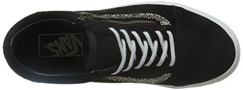 Baskets Old Noir Zip Vans Skool Mode Femme Bn4vx