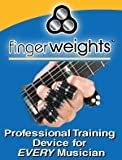 Finger Weights for Guitar, Therapy, Health Wellness, Musicians, Piano, Sports - Set of 5 - Orange NEW - 100% Money Back Guarantee.