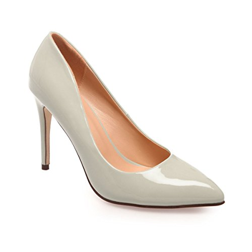 La Modeuse - Zapatos de Vestir de Material Sintético Mujer gris