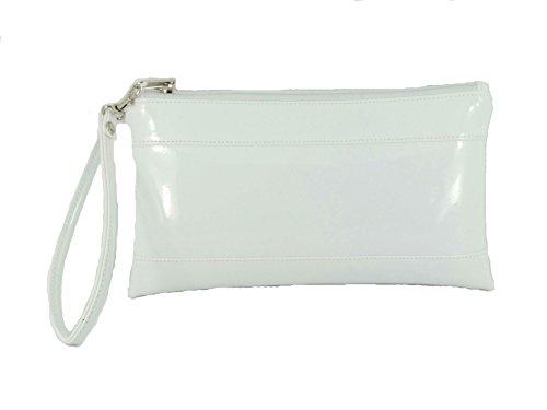 Menotte Verni Adorable Pochette en avec Detachable blanc en Cuir Menotte Faux Portmonnaie qUIwRxOf5I
