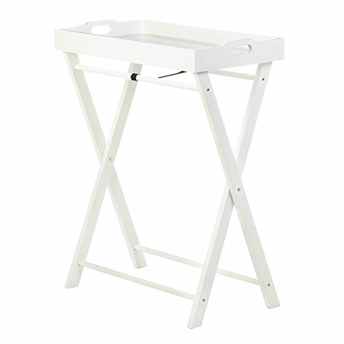 Koehler 10017987 29.25 Inch White Cozy Folding Tray Table by Koehler