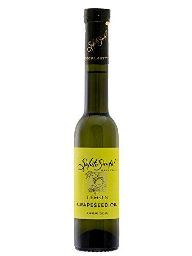 Oil Grape Seed Lemon - Salute Santé! Lemon Infused Grapeseed Oil, 200ml, Non-GMO, Made With Lemons