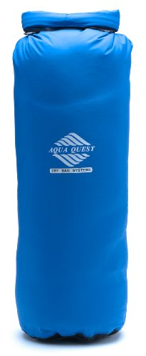 Tie Down Dry Bag (Aqua Quest ACTIVA Blue Ultra Light Waterproof Dry Bag 20L Sack with Roll-Top Closure for Hunting, Camping, Trekking Gear)