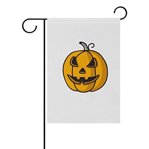 MONTOJ Front Yard Flag Halloween Party Pumpkin Garden Flags Double Sides Printed Multi-Pattern ()