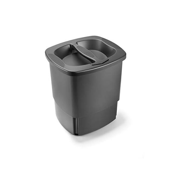 Komprimo-Cestino-Bidone-Compattatore-Riduce-Volume-dei-rifiuti-Fino-al-70-Grigio-Pattumiera-Cucina